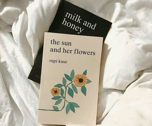 book, milk and honey, and rupi kaur image