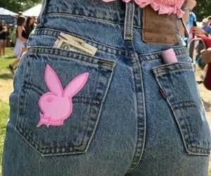 pink, jeans, and girl image