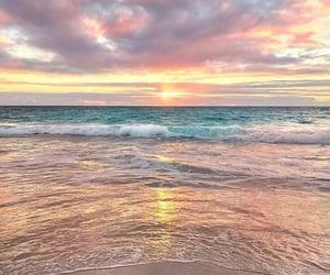 beach and sunrise image