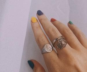 colorful, nail, and nail polish image