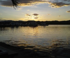 atardecer, sol, and playa image