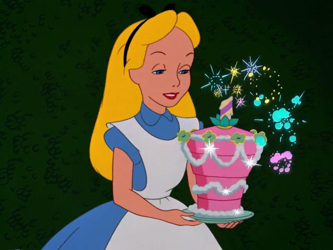 alice, alice in wonderland, and cake image