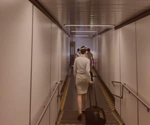 airport, flight attendant, and stewardess image