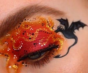 dragons, eye, and eyes image