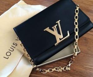 bag, black, and black purse image