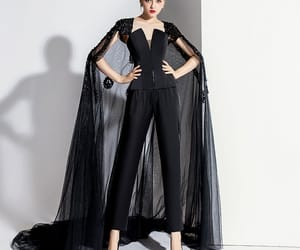 backless, jumpsuit, and court train image