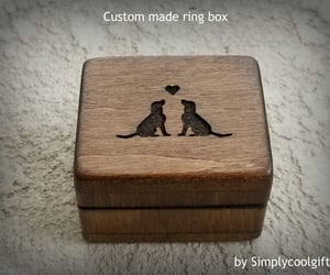 etsy, jewelry box, and wooden ring box image