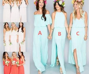bridesmaid dress, wedding party dress, and blue bridesmaid dress image