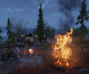 camp, fallout, and fire image