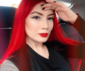 cabelo, red hair, and cabelo colorido image