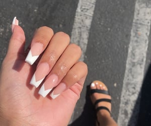 acrylics, classy, and manicure image