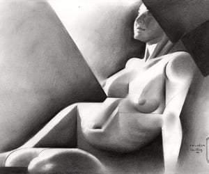 art, drawing, and cubism image