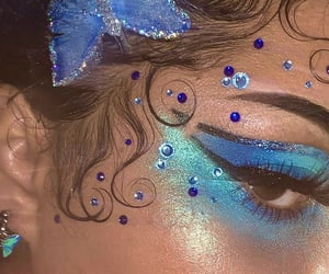 blue, glitter, and butterfly image