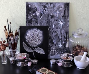 art studio, artist, and crystal necklace image