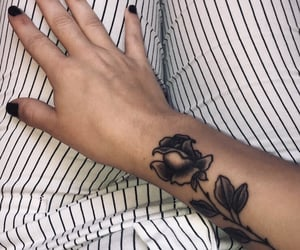 arm, nails, and tattoo image
