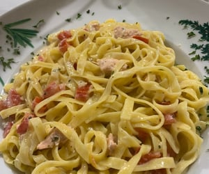 salmon, food, and pasta image
