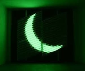 moon, aesthetic, and green image