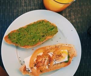 avocado, orange, and breakfast image