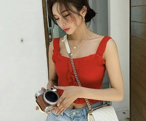 accessory, asian fashion, and asian girl image