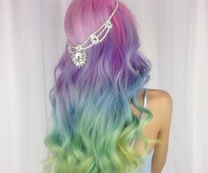 rainbow hair, mermaid hair, and unicorn hair image