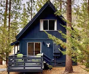 blue, cabin, and deck image