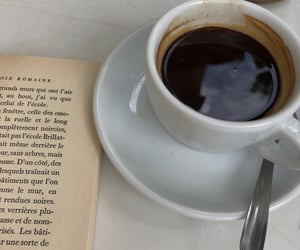 books, breakfast, and coffee image