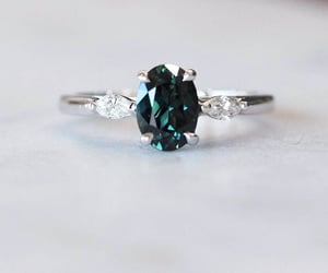 bridal, bride, and engagement ring image