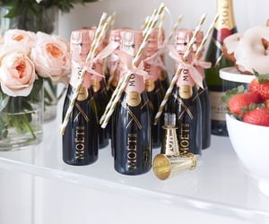 birthday, moet, and champagne image