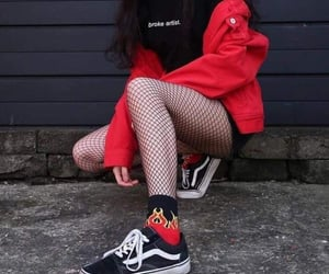 fashion, tumblr, and red image