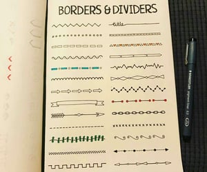 ideas, journaling, and borders image