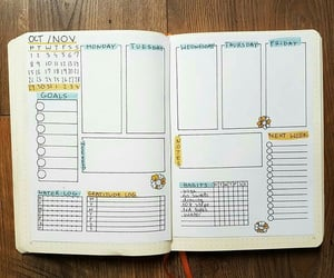 journaling, weekly planner, and bullet journal image