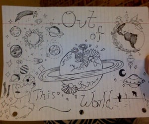 art, galaxy, and doodles image