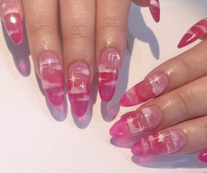 nails, pink, and clouds image