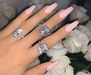 nails, beauty, and diamonds image