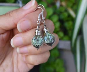 earrings, terrarium, and wedding party image