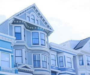 blue and house image