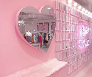 pink, aesthetic, and heart image