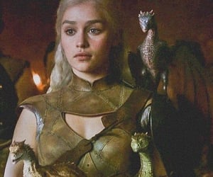mother of dragons, got, and game of thrones image