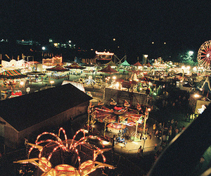 lights, night, and carnival image