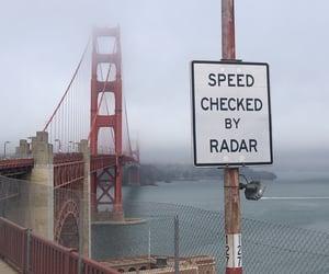 aesthetic, fog, and golden gate bridge image