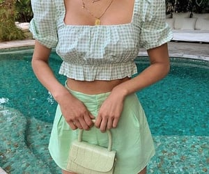 clothes, green, and aesthetic image