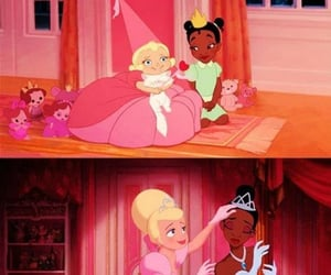 charlotte, tiana, and la princesa y el sapo image