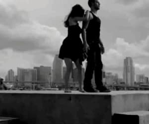 black and white, gif, and dance image