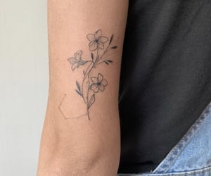 flower, flower tattoo, and tattoo image