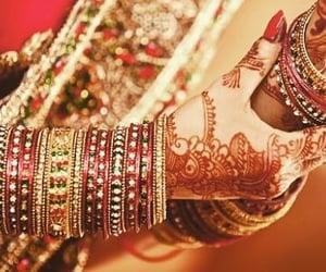 bangles, henna, and bridal image