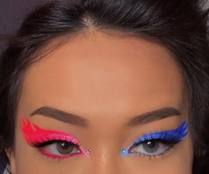 crystals, flame, and makeup image