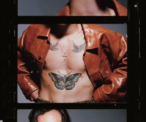 Tattoos, Harry Styles, and wallpaper image