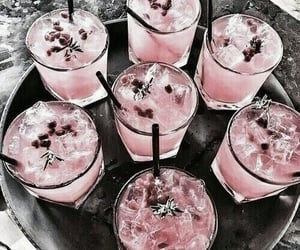 drink, pink, and food image