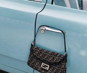 bag, blue, and car image