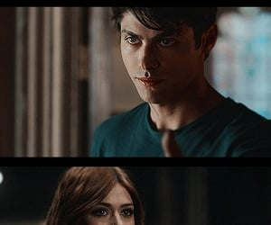 clary fray, alec lightwood, and matthew daddario image